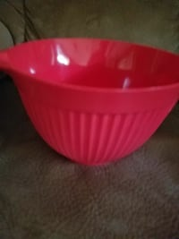 Red bowl with handle Falls Church, 22042