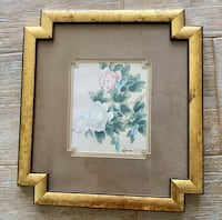 Oriental Asian Flower Floral wall Art Picture Decor Frame Indian Harbour Beach, 32937