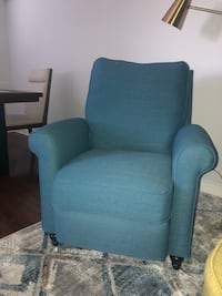 Teal reclining chair and Ottoman New York, 10462