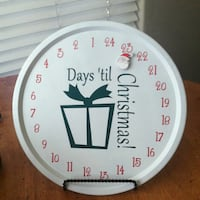 Hand layed vinyl christmas count down