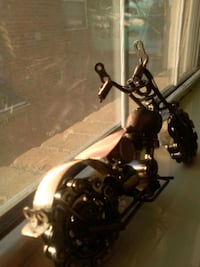 Handmade motorcycle from nuts and bolts