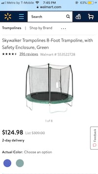 8Ft. Trampoline w/enclosure