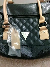 quilted black leather tote bag Visalia, 93277
