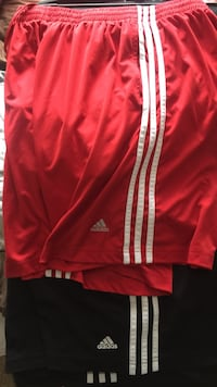 Black and red Adidas shorts