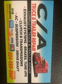 C/A Trock & Trailer Repair $65/HR & 24/7 Road Service Mundelein