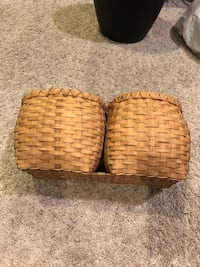 Woven Wooden Baskets (attached together)