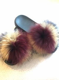 Furry Slides Size 8