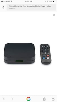 Black D-link MovieNite Plus Streaming Media Player with remote screenshot Henderson, 89052