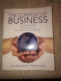 The Context of Business textbook  Vaughan, L4H 0Y4