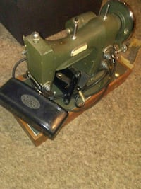 green White electric sewing machine
