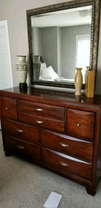 brown wooden dresser with mirror Edmonton, T5X 5G4