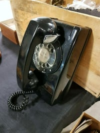 Vintage Black Dial Wall Mounted Phone