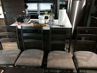 4 upholstery seat wooden chairs. Sherrills Ford, 28673