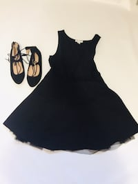 black gap formal dress size 10 and black flats size 3 London, N6H 0C2
