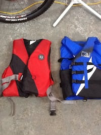 two red and blue life vests Abbotsford, V2S 7Z1