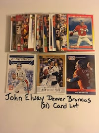 John Elway Stanford Cardinal Denver Broncos Hall of Fame QB (21) Card Lot. Set 2  San Jose, 95148