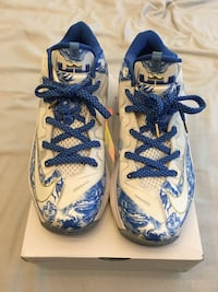 White-and-blue Lebron James basketball shoes Surrey, V3S 4R5