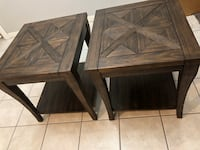 Nice Solid wood end table set of 2 Valrico, 33596