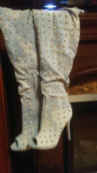 baby's white and blue polka dot footie pajama Evansville, 47720