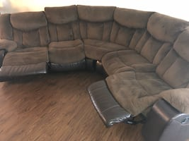 Chocolate Double Recliner Sectional