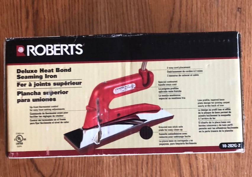 Roberts 10-282G-2 Deluxe Heat Bond Seaming Iron (Ref.199) c0c1bbe9-04ad-4163-989a-7d15af7a2048