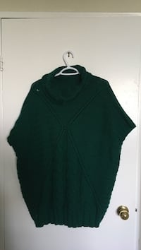 green cowl neckline knit mini dress Toronto, M3H 5T4