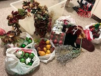 Entire bin of holiday/decorative ornaments and decor Sherwood Park, T8H 2P2