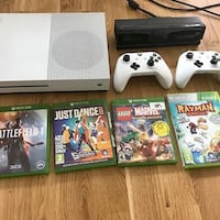 Xbox one s + kinect + 2 controller + games