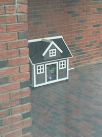 with real windows , shingles  weather treated wood