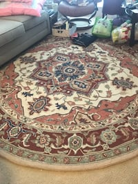 brown and white floral area rug Rockville, 20850
