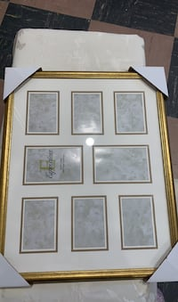Collage picture frame -gold tone frame