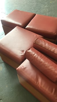 four square red leather ottoman chairs 44 km