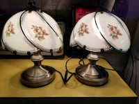 white and brown floral ceramic table lamp Myrtle Beach, 29577
