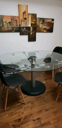 GLASS TABLE FROM JC PERRAULT