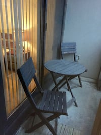 Patio set table and 2 chairs