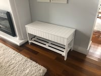 White bench with storage (solid wood) Port Coquitlam, V3C
