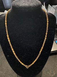 24k gold necklace 18 inches 19.4 grams  Weymouth, 02191