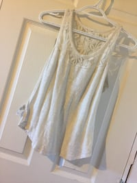Women's white sleeveless shirt Macdonald, R0G 0A2