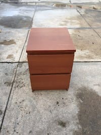 Two drawer malm night stand