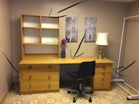Brown wooden desk with hutch Calgary, T3K 4V4