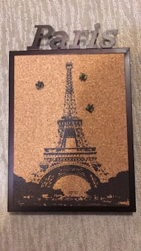 Paris Corkboard Decoration Metal Framed