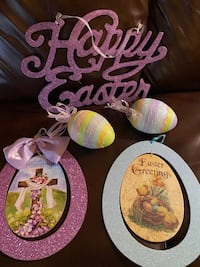 Lot of sparkly Easter decor