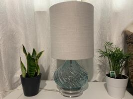 Glass Blue Table Lamp