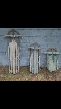 Vintage steel sled's Freeman Township
