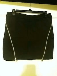 Black Mini Skirt with zipper accents  Jersey City, 07310
