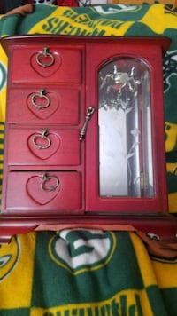 red and black wooden cabinet Green Bay, 54302