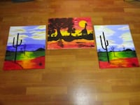 two assorted color abstract paintings East Riverdale, 20737