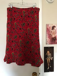 Red Floral Skirt Buffalo, 14213