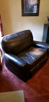 Leather sofa and a half, no rips or tears.