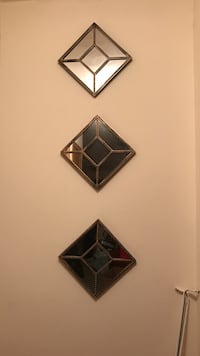 three diamond brown wall mirror decor Hampton, 23666